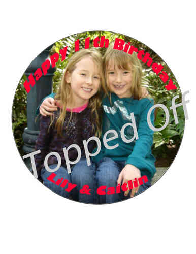 "Birthday - 7.5"" Personalised Photo (x1) Icing Sheet"