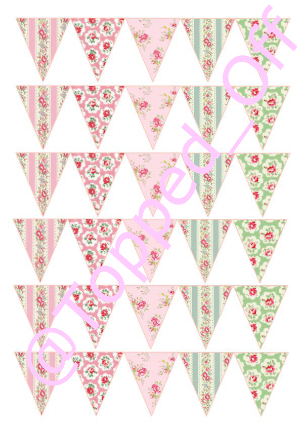 shabby chic bunting - photo #32