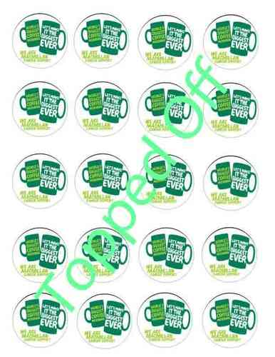 Macmillan - Coffee Morning (x24) Round Machine Pre-Cut